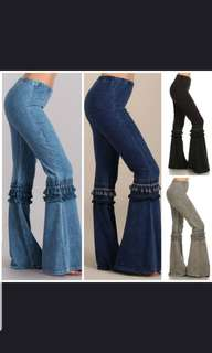 (PO)Flare bell - bottoms jeans..(WSH)