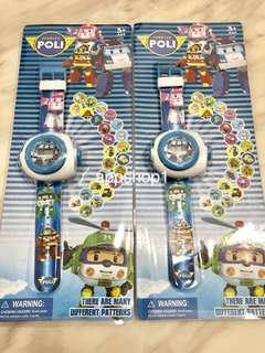 Robocar poli theme goodies favors (projector watch) , birthday goodie bag packages, toy