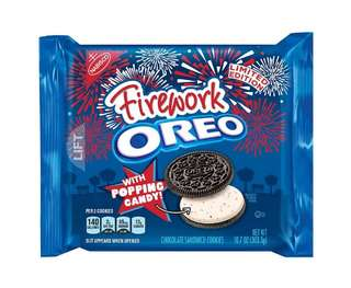 Oreo Firework With Popping Candy Chocolate Sandwich Cookies (preorder)
