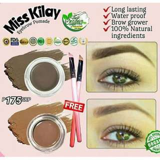 MISS KILAY 2 in 1 Eyebrow Pomade: Definer & Grower (with free brush)