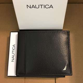 🇺🇸父親節Nautica🇺🇸Men's Leather Wallet 黑色真皮銀包