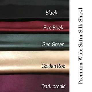 Premium Wide Satin Shawl