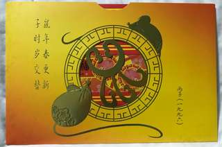 1996 Year Of Rat Phone Card