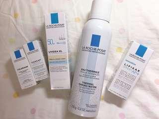 理膚寶水全護清爽防曬液UVA PRO潤色 溫泉舒緩噴液、全面修護霜、洗面乳、沐浴乳組合