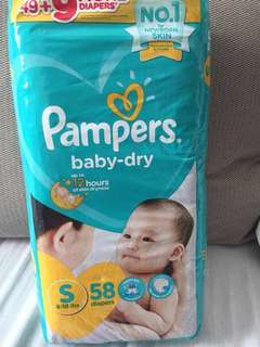 REPRICED - Pampers Baby Dry Small 58s
