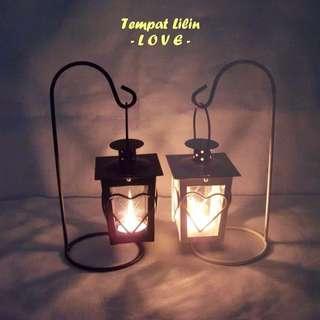 Lampu love gantung