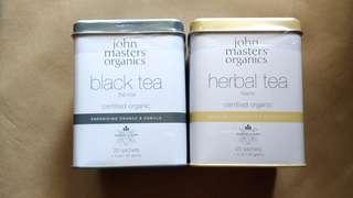 John masters organics tea herbal tea black tea 花茶 茶包
