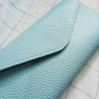 Light Blue Trifold Wallet