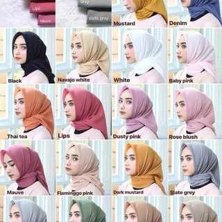 Hijab segiempat murah meriah