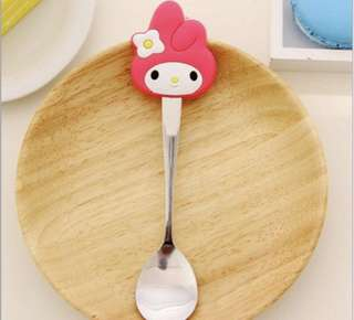 Brand New Baby Pink Melody Stainless Steel Spoon