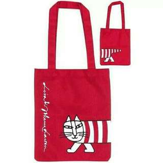 Lisa Larson Red Cat Tote Bag (Japan)