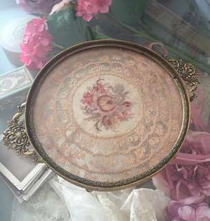 1910 Vintage lace tray