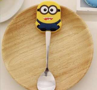 Brand New Baby Yellow Minion Stainless Steel Spoon
