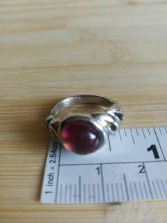 10×8mm 碧茜寶石 鑲銀戒指, 多年前舊存貨