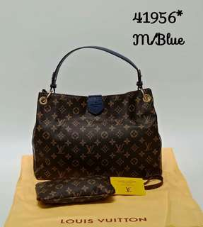 Louis Vuitton Graceful PM Blue Monogram