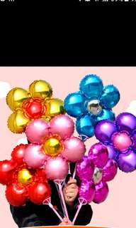 Foil flower balloon for birthday parties