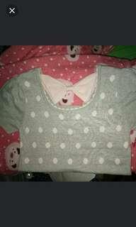 knitted polka dots