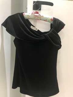韓國黑色跌膊衫