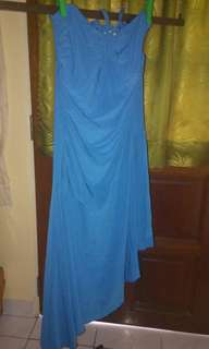 Plus size halterneck nice blue dress