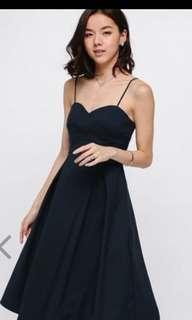 Love Bonito geordie midi dress in black
