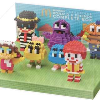 全新 McDonald 2016年 麥當勞 x nanoblock Full 7 items with Box Set