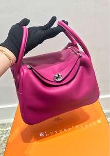 ✨全新 2018買入! 🦄Hermes✨💗Lindy 26 L3 Rose Pourpre 桃紫色 (2017新色) EVERCOLOUR皮 C年 $54500