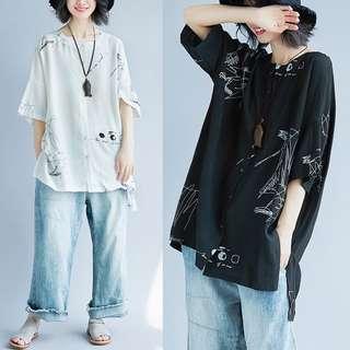 Plus Size Loose shirt T-shirt top