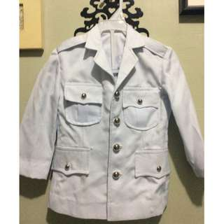 Military White Duck Uniform (with Pants) for 2T-3T(slim)