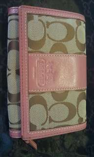 COACH Jacquard Canvass Trifold Wallet