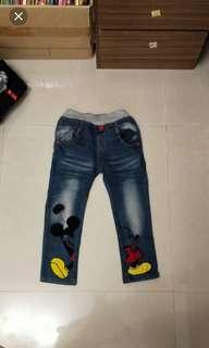 男童米老鼠帥氣牛仔褲(9)
