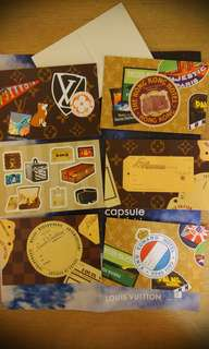 Louis Vuitton postcard/sticker (6 pieces)