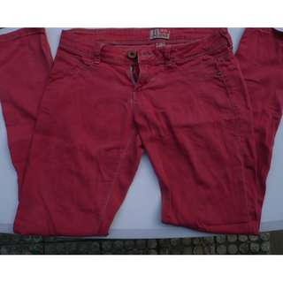 Bershka Red Trousers