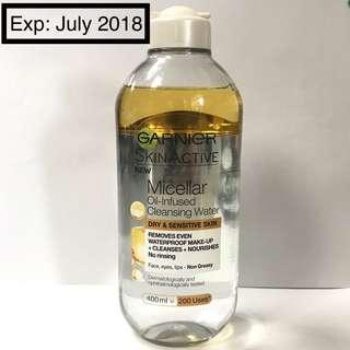 Garnier SkinActive Micellar Oil-Infused Cleansing Water — 400 — 95%