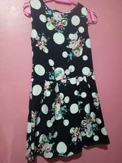 Polka and floral dress