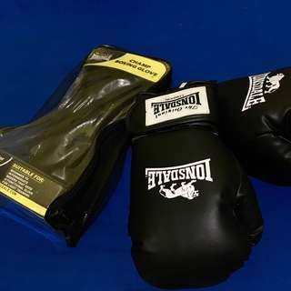 Lonsdale Boxing Gloves (Black- 10oz)