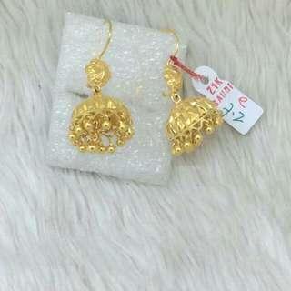 21K Saudi Gold Earrings