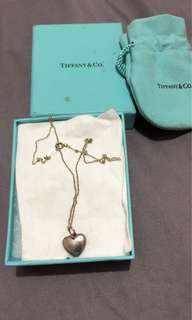 Heart locket pendant and necklace in sterling silver - TIFFANY&Co