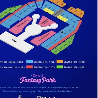 214 A PAIR FRONT ROW TWICE Concert tickets Twiceland fantasy park concert in Singapore