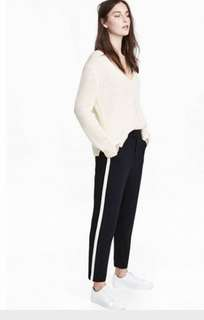 HNM H&M STRIPED SIDE TROUSERS PANTS