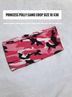 Princess polly camo Crop