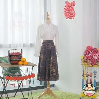 🍿 Vintage Midi Skirt VS1282