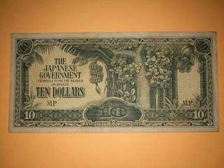Japanese Invasion Money $10