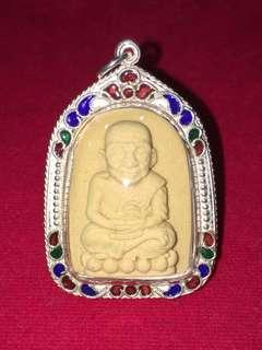 Ajahn Sanrerng White meat Luang Phor Thuad, Real Gold Takrut
