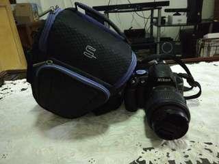 Pre-loved Nikon DSLR Camera with 50mm f/1.8D prime lens and camera bag