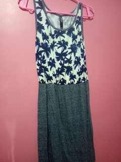 Palm tree summer dress