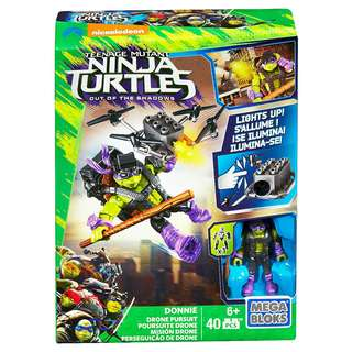 Mega Bloks Teenage Mutant Ninja Turtles - Out of Shadows - Donnie Drone Pursuit Playset