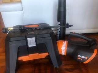 充電式高壓洗車槍及吹風機