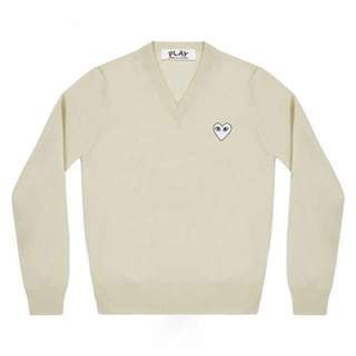 Cdg white wool knitwear special edition not y3/supreme/stussy/bape/