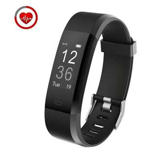 394.Fitness Tracker Muzili YG3 Plus Activity Tracker with Heart Rate Monitor Fitness Watch, IP67 Waterproof Smart Wristband with Calorie Counter Step Counter Sleep Monitor for Android and IOS