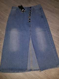 Denim skirt & shorts